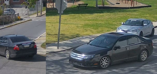 Suspected vehicle used in a shooting at the 500 block of North Pershing Avenue.