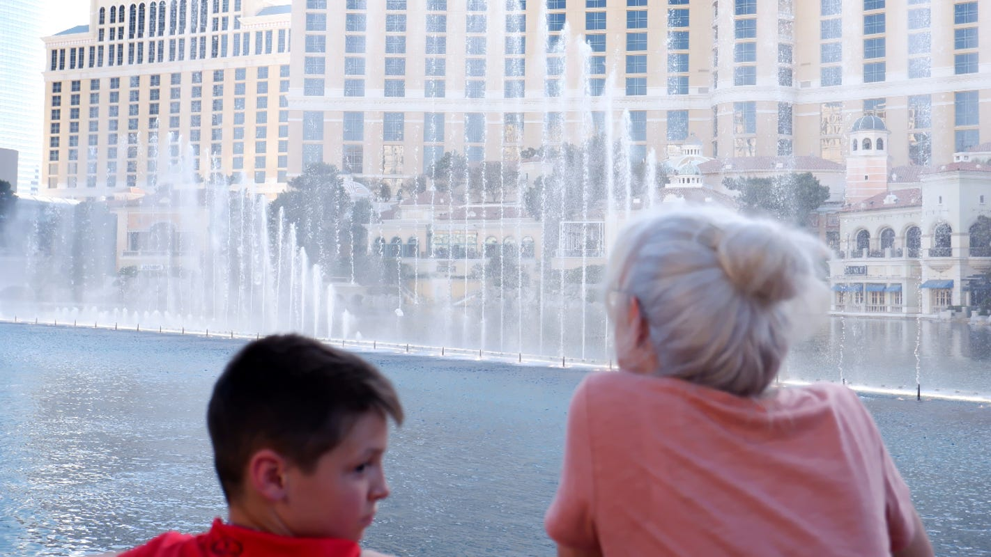 There's a new sense of 'hopeful' optimism among visitors to the Las Vegas Strip