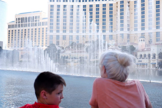 The Fountains at Bellagio on April 30, 2021.