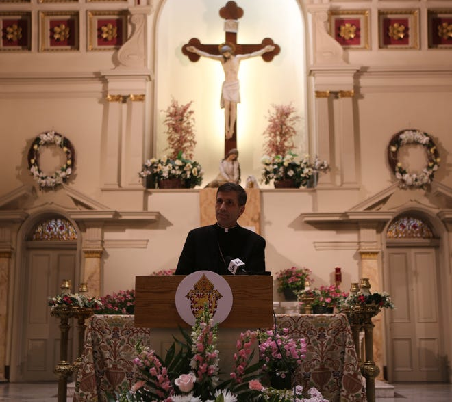 Monsignor William Koenig was introduced as the incoming bishop for the Diocese of Wilmington on Friday, April 30, 2021. The current bishop, the Rev. Francis Malooly, is retiring later this year.