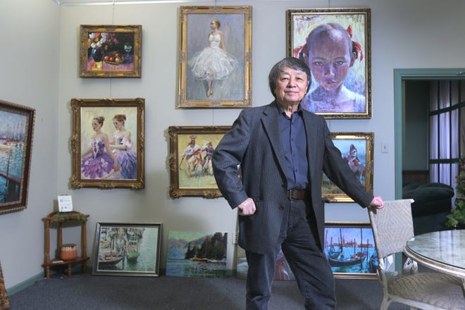 Yan Sun is an acclaimed painter, as well as an art professor at Muskingum University.