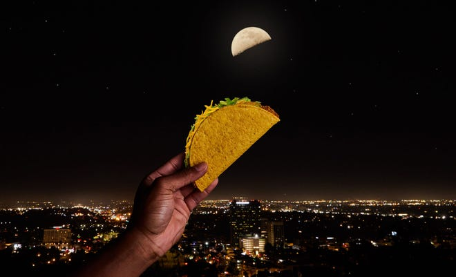 Taco Bell says the moon will look like a taco on May 4.