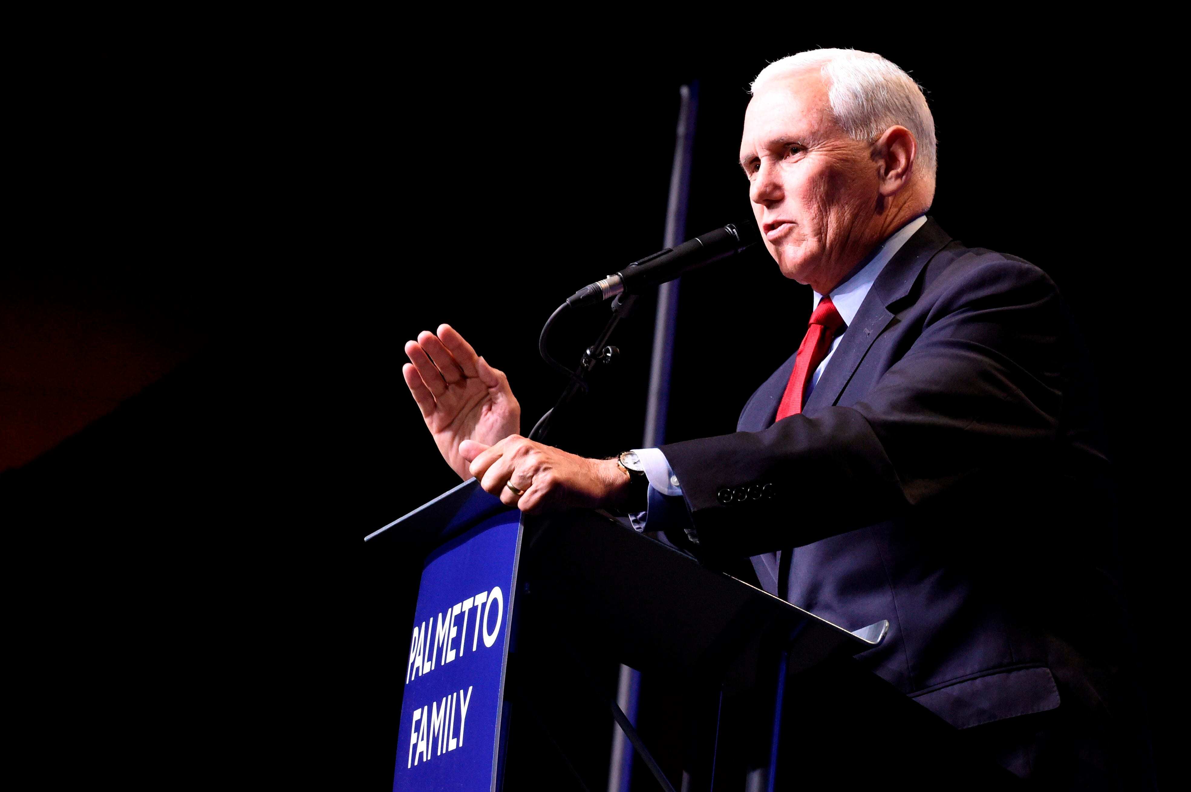 Praise for Trump, attacks on Biden, silence on Jan. 6: Mike Pence makes first speech since leaving office in pivotal SC