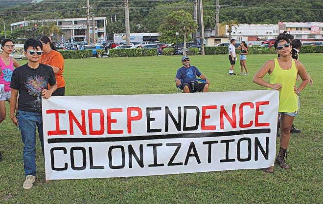 Guam residents and local leaders rally for independence from the U.S.