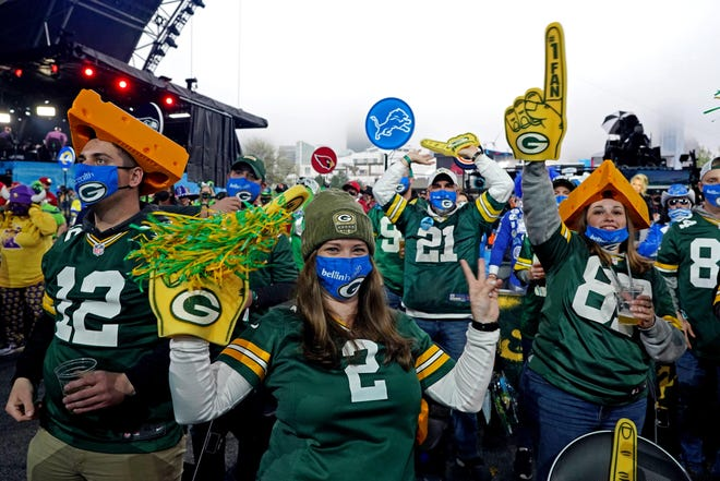 Packers fans were hearing a lot about QB Aaron Rodgers at Thursday's NFL draft in Cleveland.