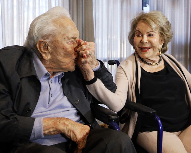 Anne Douglas, the widow of Kirk Douglas and stepmother of Michael Douglas, died Thursday, April 29, 2021, in California. She was 102.