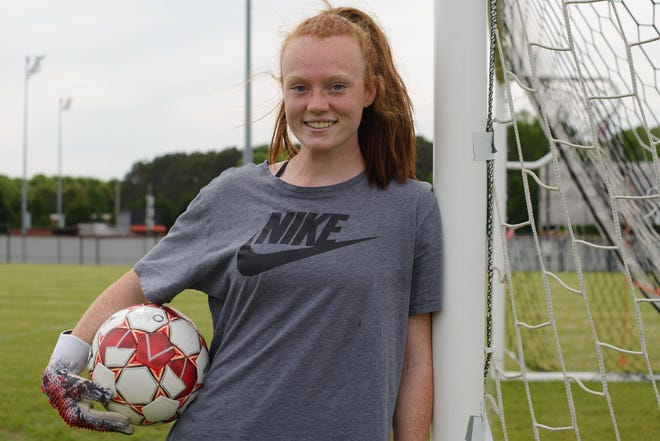 Hannah  Thompson is the first-string goalkeeper for the North Oconee Titans. They'll face Columbus Thursday in the state quarterfinals. (Julian Alexander for the Athens Banner-Herald)