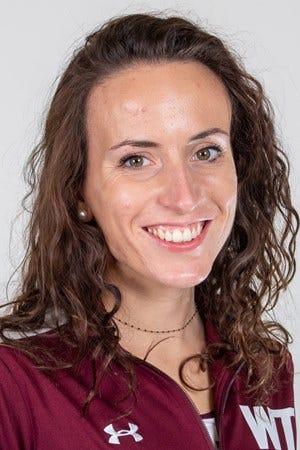 West Texas A&M sophomore steeplechase runner Eleonora Curtabbi.