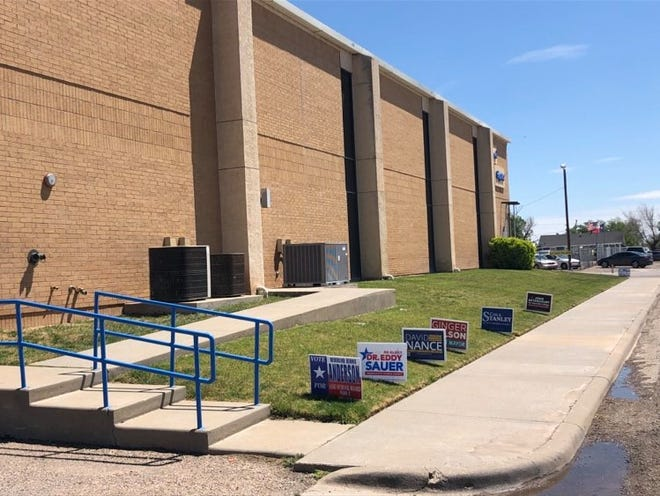 Election signs outside of a polling place off of Buchanan in Potter County.