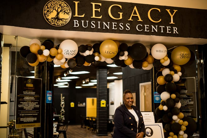 Aronda Smith-Benson stands outside the Legacy Business Center in Houma's Southland Mall.