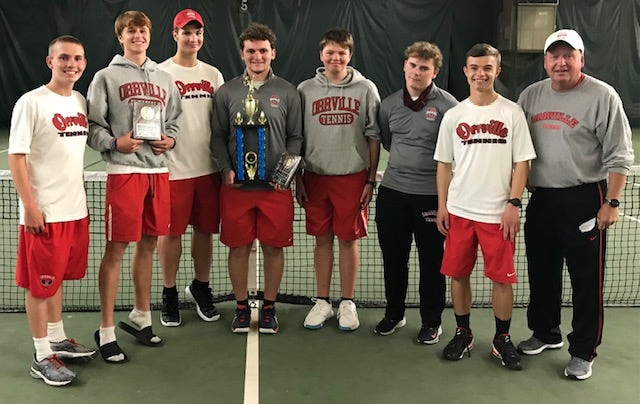 Orrville celebrates winning the NET Conference Tournament.