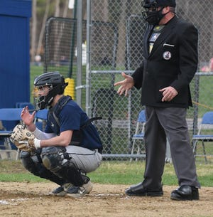 Exeter's Nathan Leighton Nathan Leighton had two hits and scored two runs in Friday's 7-3 Division I win over Concord.