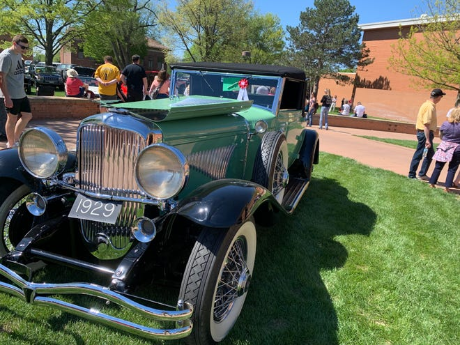 The 1929 Dusenberg Model J displayed at Saturday's C.A.R.S Club Show at McPherson College.