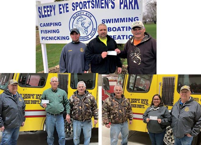 Sleepy Eye Sportsmen's Club made donation to the City of Sleepy Eye, Sleepy Eye Fire Department and Sleepy Eye Ambulance Service.