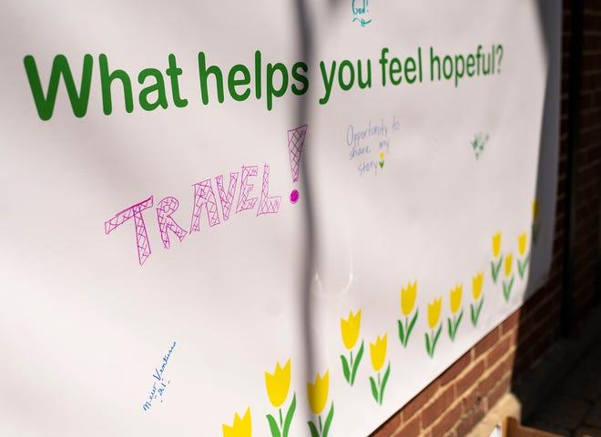WHITINSVILLE - The Yellow Tulip Project and ValleyCAST hosted a Hope Day celebration to kick off Mental Health Awareness Month at Alternatives' Whitin Mill on Saturday.