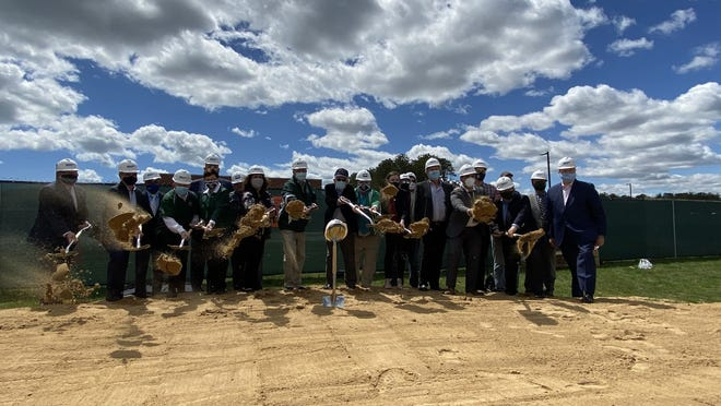 Moving on: D-Y Regional Schools administrators and state and local lawmakers' official ground-breaking ceremony. PHOTOS COURTESY OF TIM WHELAN