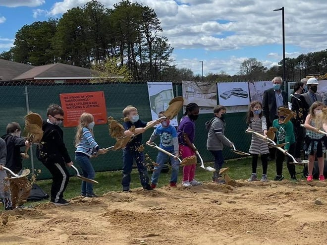 The future generation christens the middle school grounds.