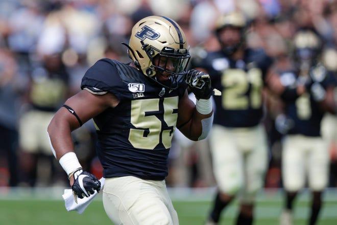 Gelandang Purdue Derrick Barnes terpilih di babak keempat NFL Draft oleh Lions.