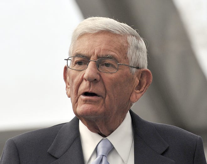 Philanthropist Eli Broad at Michigan State University on Nov. 10, 2012.
