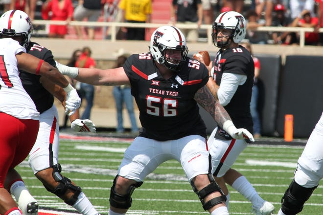 Texas Tech Red Raiders offensive guard Jack Anderson (56) was the Bills' secenth-round pick.