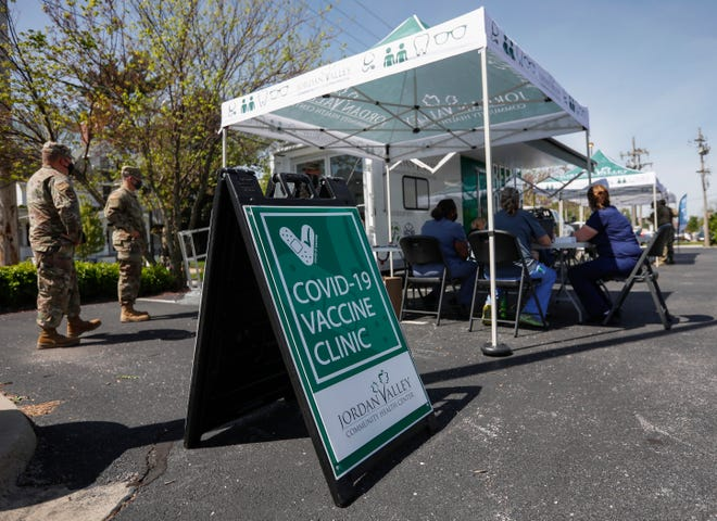 Jordan Valley held a walk-up COVID-19 Vaccine Clinic during the 40th Artsfest on Historic Walnut Street on Saturday, May 1, 2021. The event returned this year after it was canceled in 2020 because of the COVID-19 pandemic.