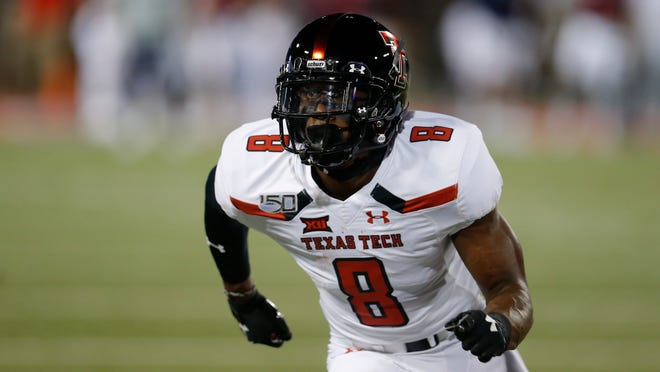 The Philadelphia Eagles selected Texas Tech cornerback Zech McPhearson (8) in the fourth round of the NFL Draft on Saturday.