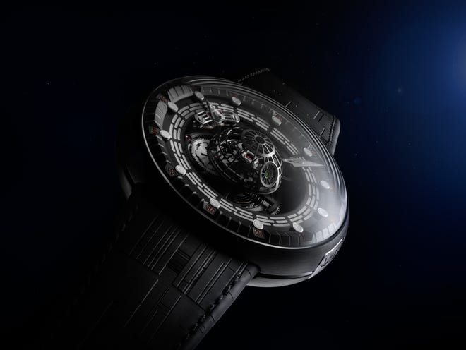 """A limited-edition Swiss-made """"Star Wars"""" Tourbillon watch inspired by the Death Star will set you back $150,000."""