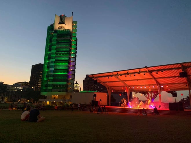 Area residents enjoy music and the summer air at Unity Square during the first Sizzlin' Summer Series last year.