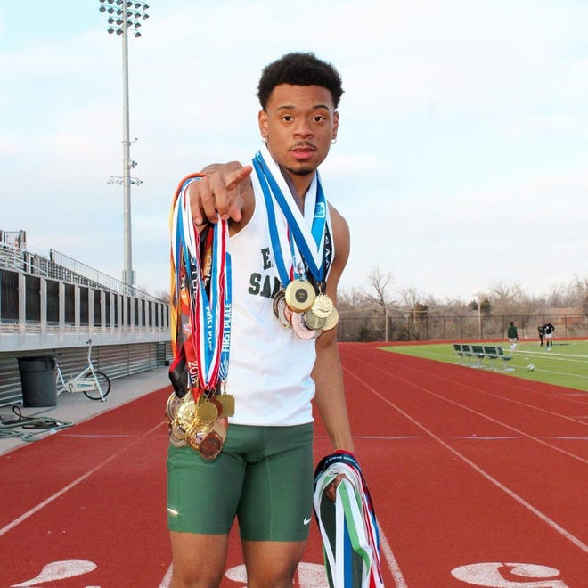 Edmond Santa Fe senior Jalen Nero is one the state's top runners in the 100- and 200-meter dashes.