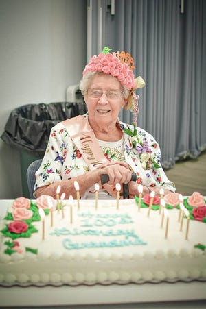 Pauline Patterson, of Pawhuska, celebrated her 100th birthday recently. Her family members held a birthday party for her at Calvary Baptist Church. Her birthday was April 27, a Tuesday, and the extended family gathered for her celebration on Sunday, April 25.
