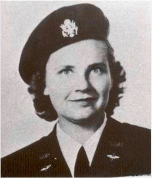 Winnie Lee Jones was a Womens Airforce Service Pilot during World War II. She flew numerous types of aircraft before dying a tragic crash in the BT-13 Valiant she was piloting. The plane went down during a violent electrical storm outside of Sanderson, TX on April 24, 1946. Jones is a  native of Ballinger.