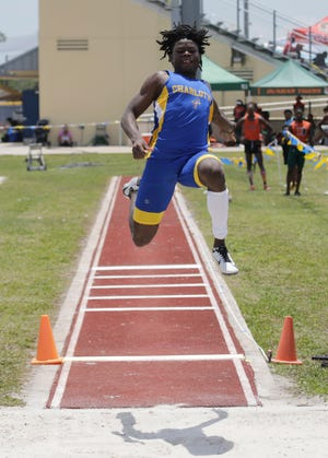 Long jumper Brayan Augustin of Charlotte High received an at-large bid to the Class 3A state track and field meet.