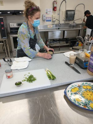 Heather Zanotto, Yreka High School Culinary Arts Instructor during a class on Thursday.