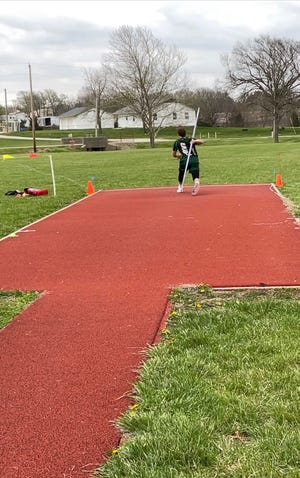 Olpe's Max Blaufuss has the top javelin throw in the state this year with a toss of 198 feet, 8 inches.