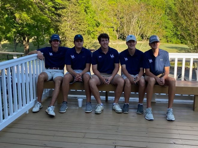 The Western Alamance boys' golf team's top five players, from left to right: Jake Clayton, Brad Grajzar, Jack Dockrill, Connor Massey and Zach Wilson.