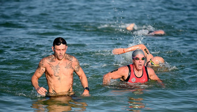 The 35th Annual Naples Fitness Triathlon at The Naples Beach Hotel & Golf Club, Sunday, May 2, 2021.(Photo/Chris Tilley)