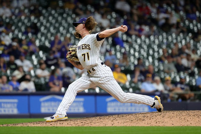 Brewers closer Josh Hader had not pitched in a game in 10 days entering Wednesday night.