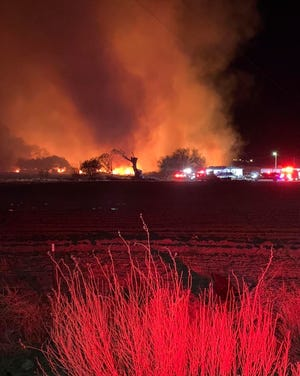San Juan Juan County Fire & Rescue was notified at approximately 1:35 a.m. on May 2 about a brush fire that started in the Mesa Farm Road area in Shiprock.