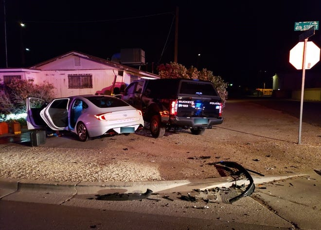 A suspected drunk driver T-bones a Buckeye police sergeant on May 1, 2021.