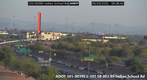 Traffic backed up after a wrong-way crash on Loop 101 near Camelback Road.