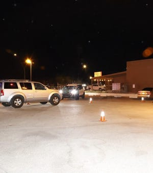 An image from the Tucson Police Department shows the scene of a shooting at a bar located at 5244 S. Nogales Highway on May 2, 2021.
