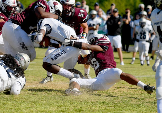 Stuarts Draft's Latrell Fomby was named by the VHSCA as the defensive player of the year in Class 2 football.
