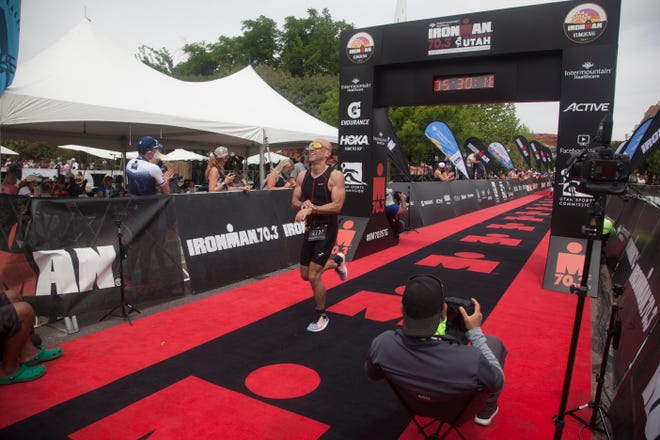 Athletes from around the world compete in the St. George Ironman Saturday, May 1, 2021.