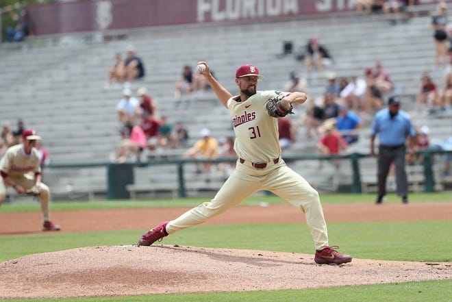Conor Grady pitched five innings as he recorded a career-high 13 strikeouts
