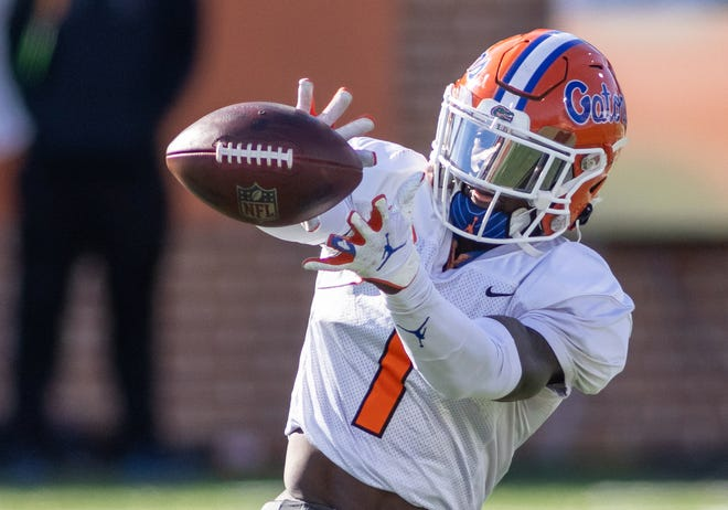 The New York Giants traded up in the draft to select Florida wide receiver Kadarius Toney with the 20th overall pick.