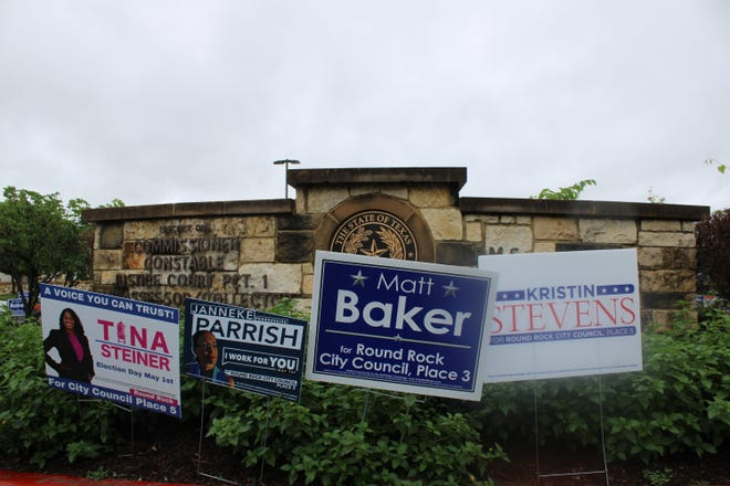 Incumbent Matthew Baker and political newcomer Kristin Stevens were elected to the Round Rock City Council on Saturday.