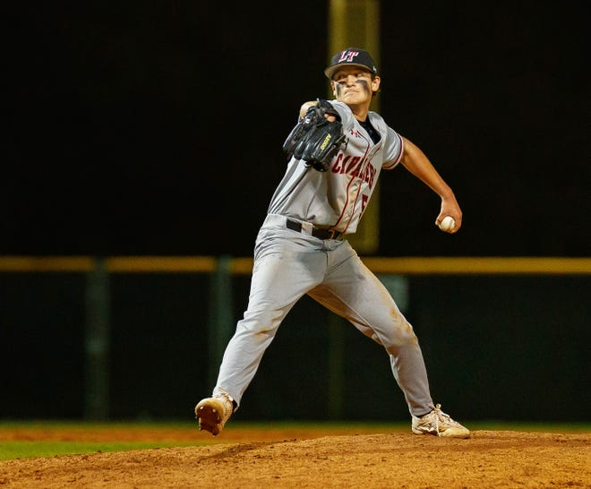 Lake Travis pitcher Ethan Calder, pitching against Hays, has been among the most consistent starting pitchers for a team that ranks No. 1 in Texas.