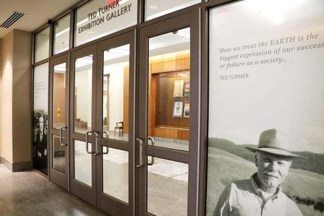 The entry space for the museum level of the UGA Special Collections Building has been named the Ted Turner Exhibition Hall and Gallery, thanks to donations from the Turner Foundation and WarnerMedia, the company that now owns a variety of Turner-created broadcast stations. (Photo by Camie Williams)