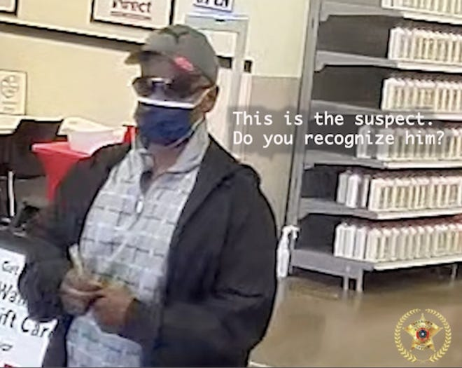 Randall County suspect in a credit card theft case which occurred in April.