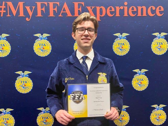 Bartlesville High School junior Matt Fries won a full scholarship to the Oklahoma Leadership Conference.
